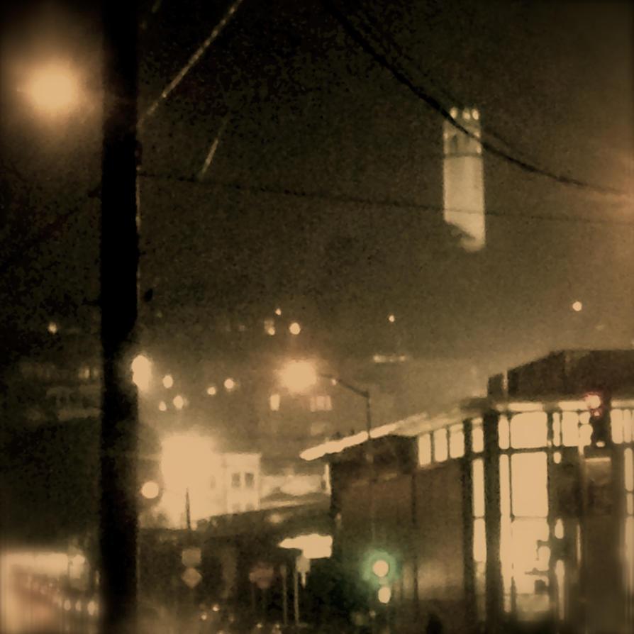 Rainy San Francisco Night by pinballwitch