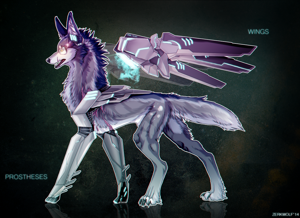 Mecha Wolf- Adoptable [sold] By ZerkWolf On DeviantArt