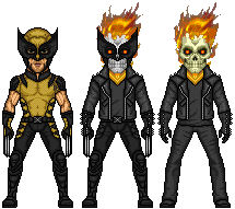Wolverine and Ghost Rider Fusion