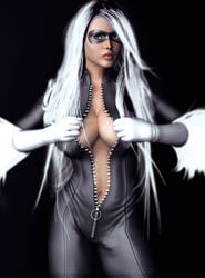 Black cat by ozzboyd