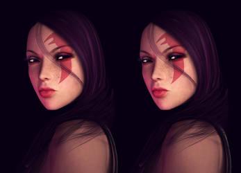 Stereo Psylocke by ozzboyd