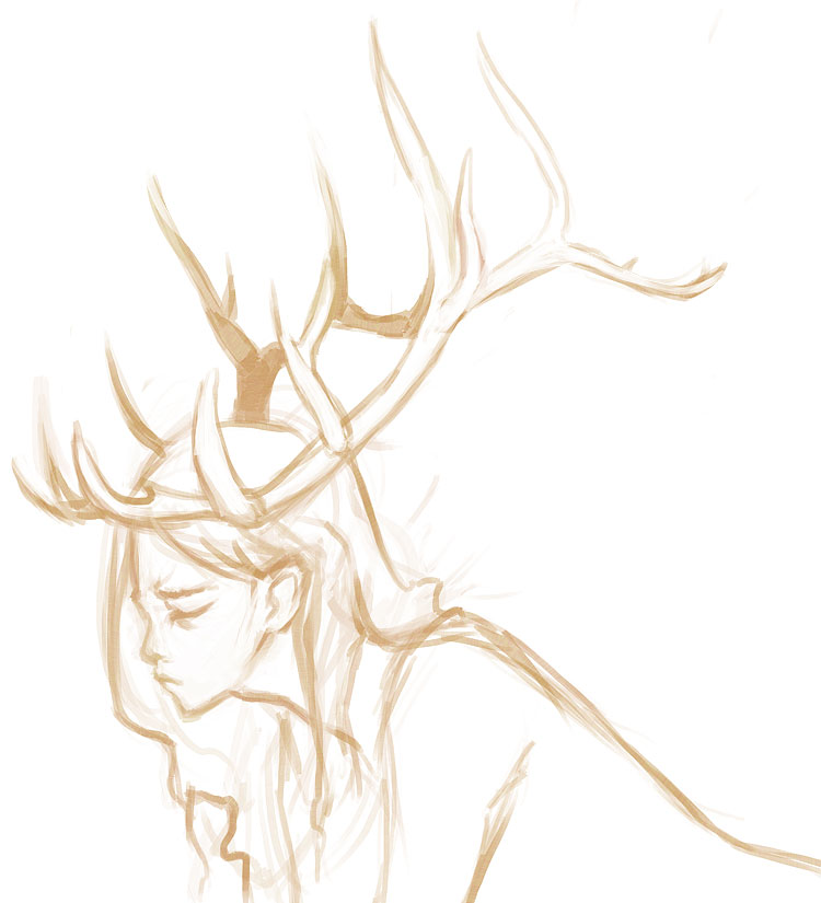 How to draw antlers