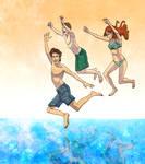 swimmin in the tardis