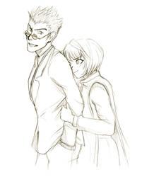 leorio and kurapika by doven