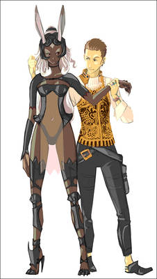 Balthier and Fran