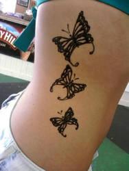 side butterfly henna