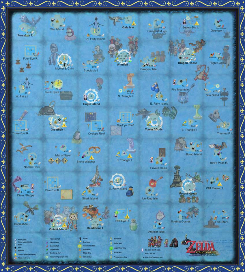 Zelda Wind Waker Full Map on the legend of zelda full map, wind waker world map, zelda ocarina of time full map, hyrule full map, wind waker islands map, the wind waker full map, zelda link to the past full map, wind waker triforce map, zelda majoras mask full map, zelda windwaker map complete, wind waker hd map,