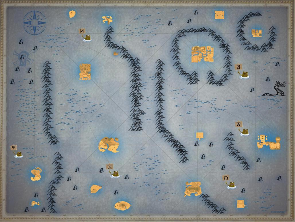 Phantom Hourglass Full Sea-chart (Large) by zantaff on DeviantArt