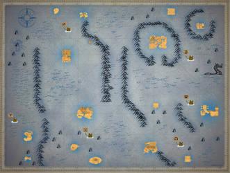 Phantom Hourglass Full Sea-chart (Large) by zantaff