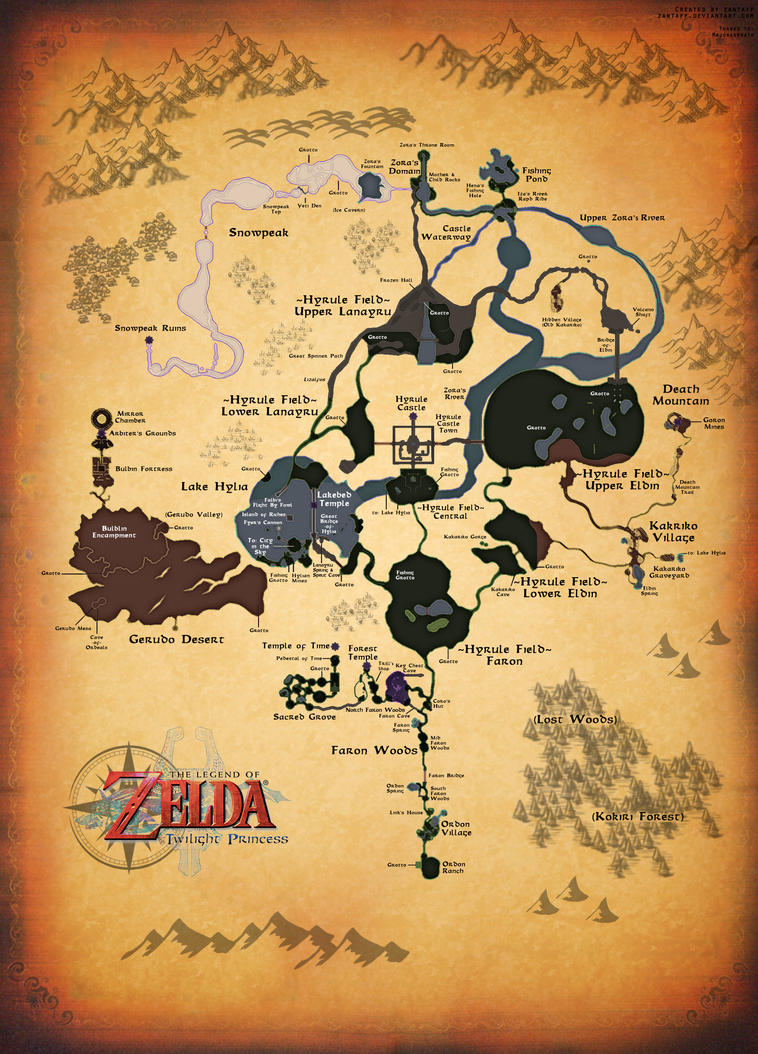Twilight princess full map by zantaff on deviantart twilight princess full map by zantaff altavistaventures