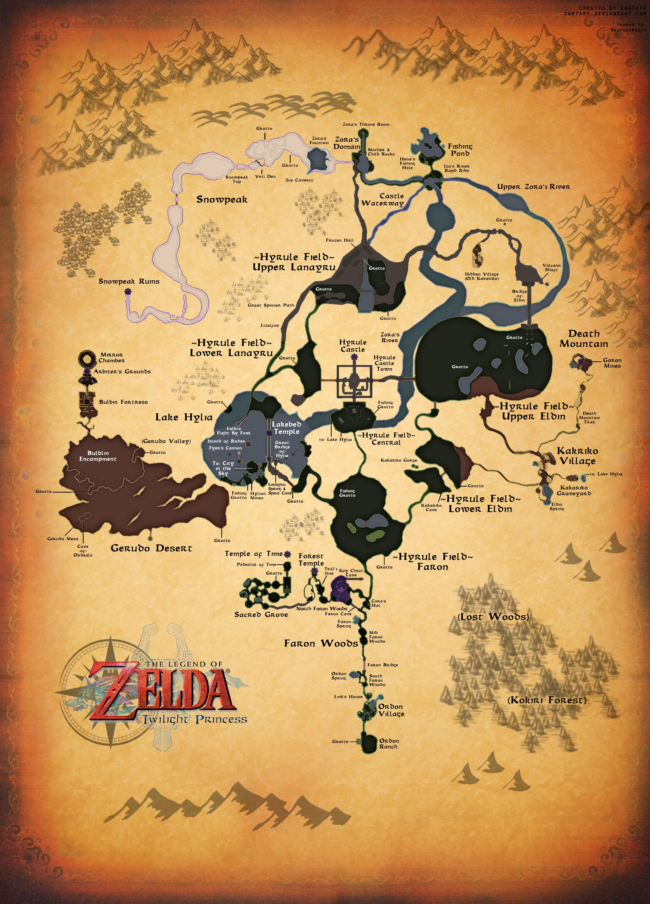 twilight princess full map by zantaff on deviantart