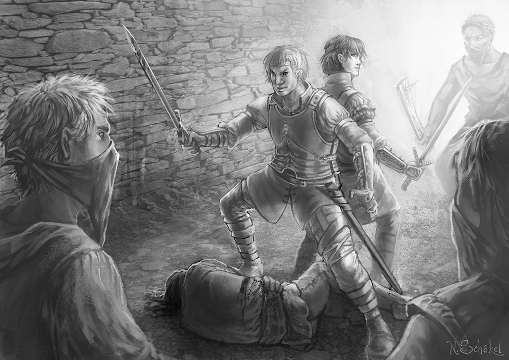 Klingentaenzer - Vinsalt Knights in Action by GaiasAngel