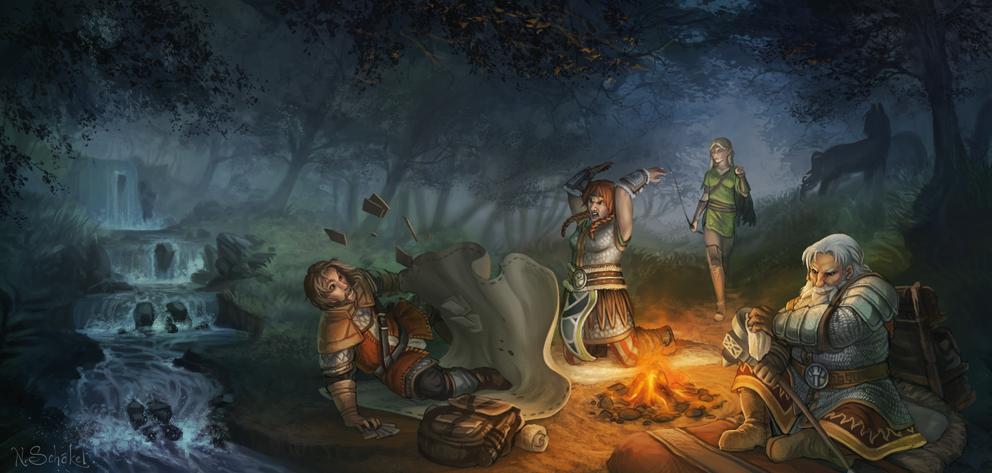 Camping by GaiasAngel