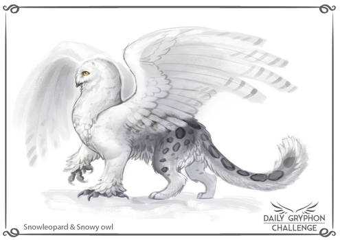 Gryphon Challenge 09 : Snowleopard and Snowy owl