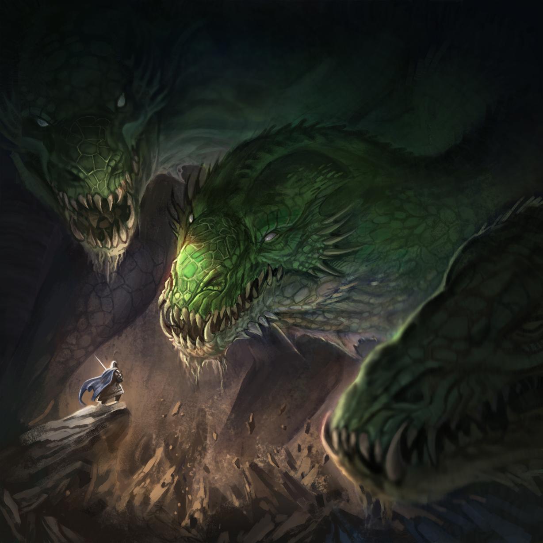Ancient giant Lindwurm