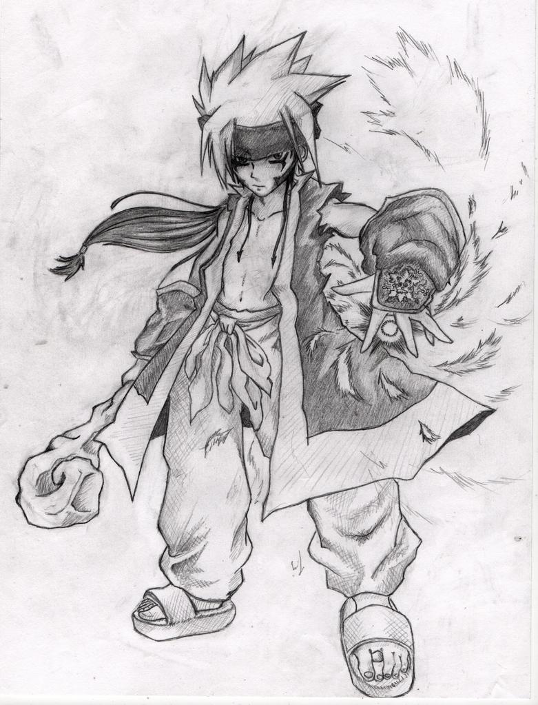 Nameless Druid - Sketch by fabsedda
