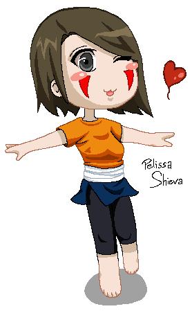 Aika pixel Chibi by Pelissa