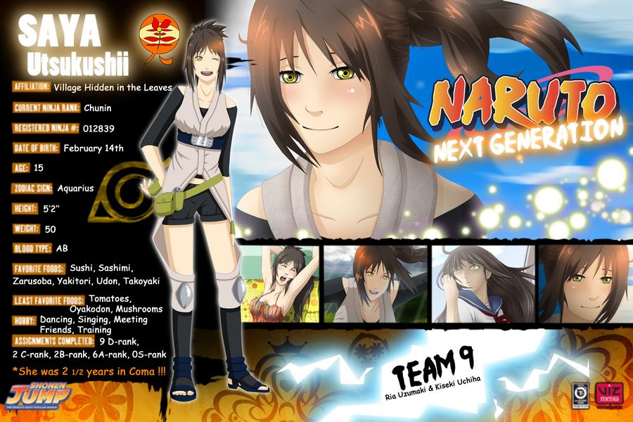 Character Profile SAYA by Pelissa