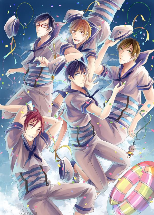 Free!: Sailor Free! by warutsu