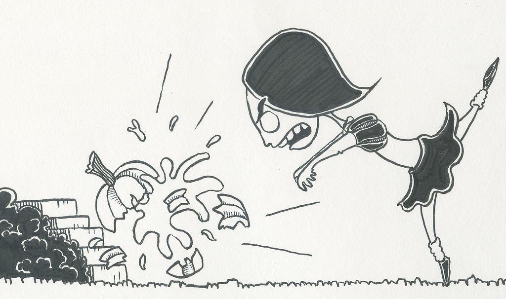 Ballerina Destroys a Pumpkin by 19cartwheels