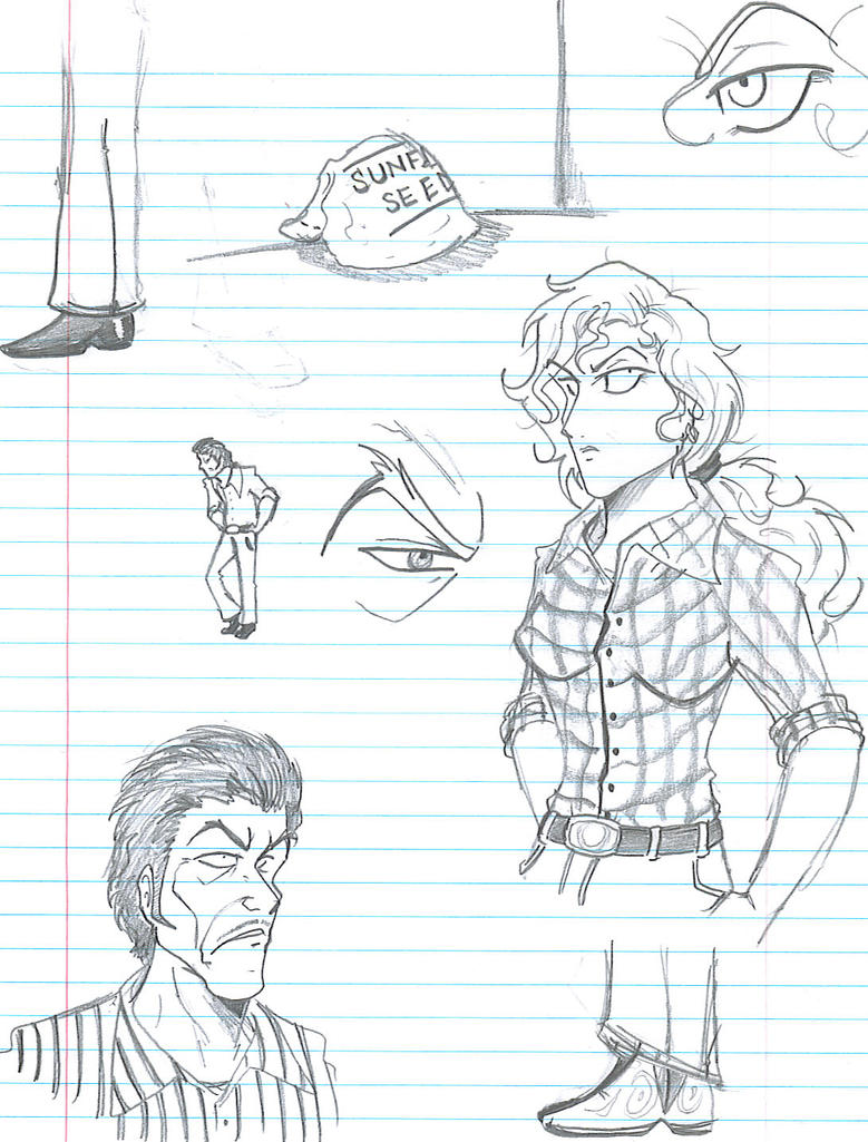 Holes Sketches: Sir and Warden by Rinkusu001 on DeviantArt