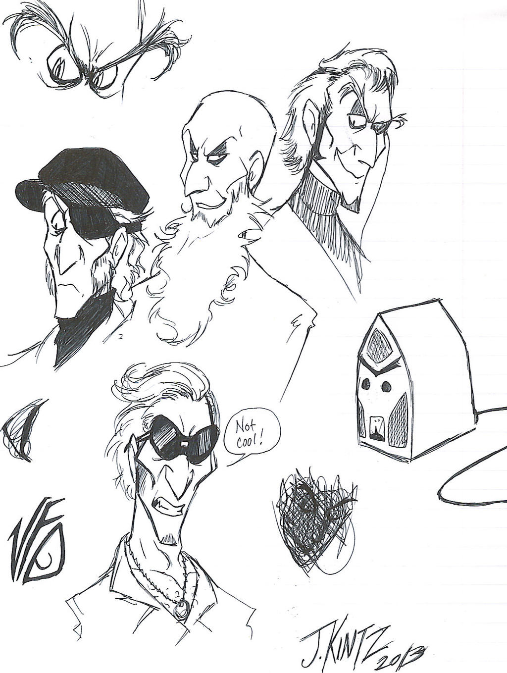 Count Olaf Sketchdump by Rinkusu001 on DeviantArt