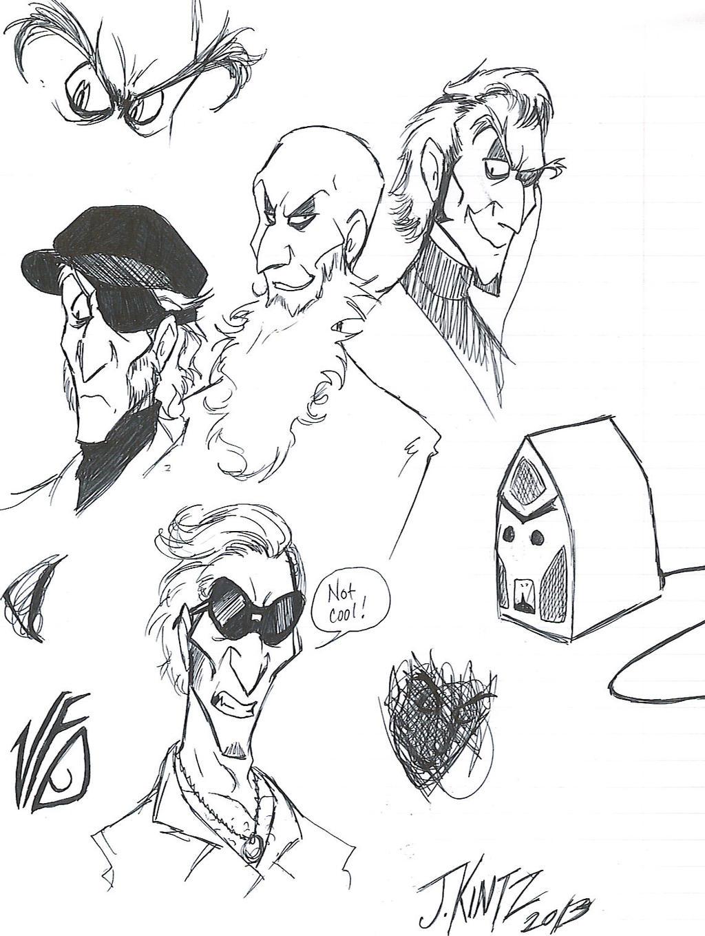 Count Olaf Sketchdump by Rinkusu001 on DeviantArt