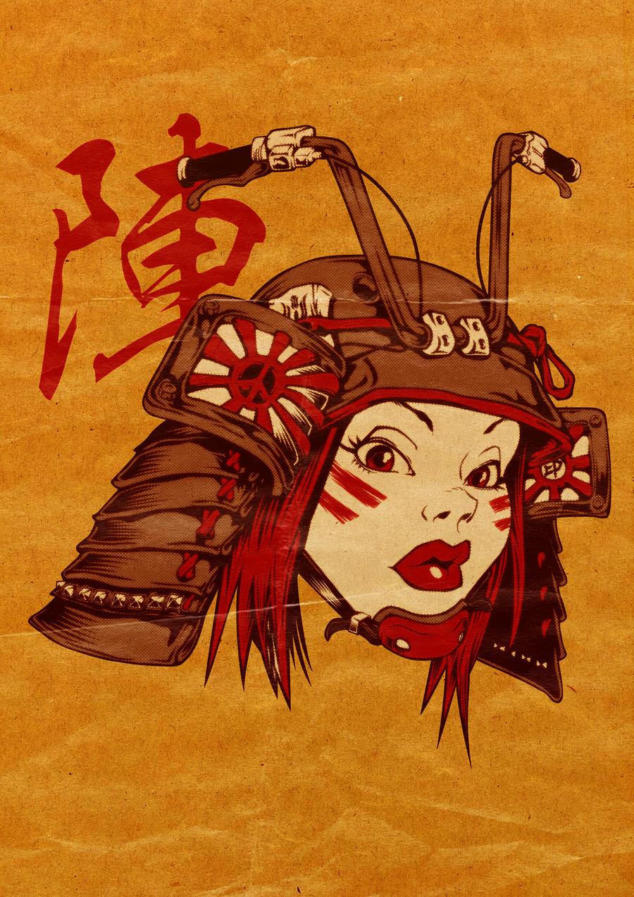 Samurai Biker Girl