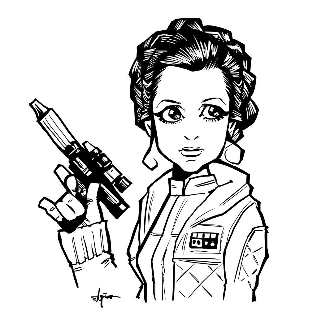 Princess leia by elpino0921 on deviantart for Princess leia coloring page