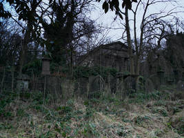 Gothic cemetery - stock - 2 by mirandaskye
