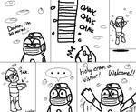 Bubble Man stage comic
