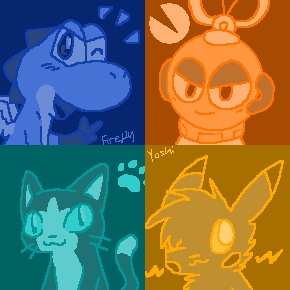 Pop Art background by FireflyYoshi