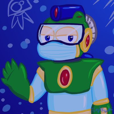 Bubble Man - collab pic by FireflyYoshi