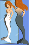 Commission Mermaid Kim Possible in the mirror