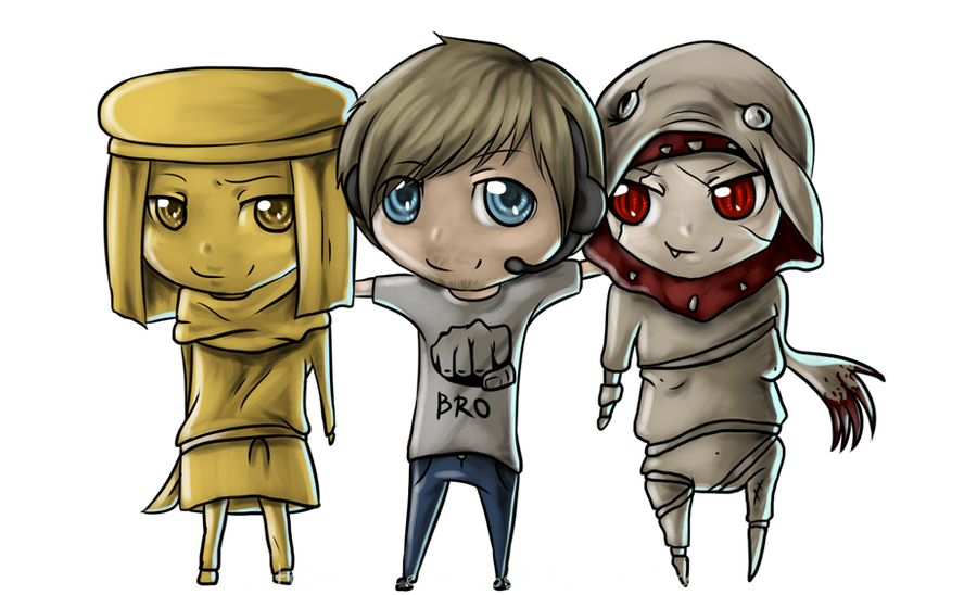 Stephano, PewDiePie and Bro by Green-EyedGhost
