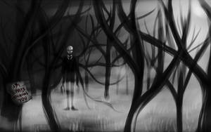 Slender Man is always watching you by Green-EyedGhost