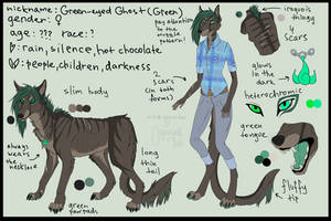GREEN - reference sheet [2013] by Green-EyedGhost