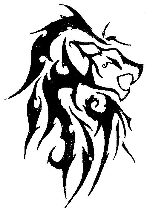 simple tribal lion designs. Black Bedroom Furniture Sets. Home Design Ideas