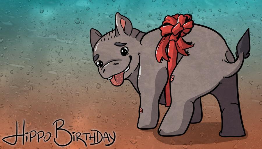Hippo Birthday by i-Moosker