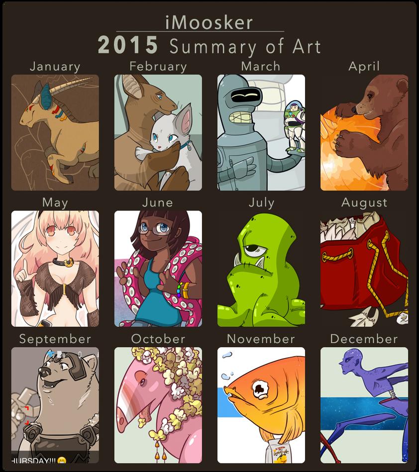 Summary of Art: 2015 by i-Moosker