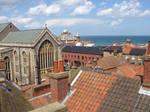 Cromer rooftop town view UK
