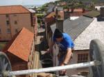 Cromer View of Rooftop Worker