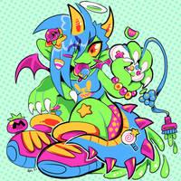kirby superstar by Gullacass