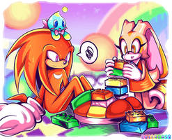 Legos belong on Knuckles' shoes by Gullacass