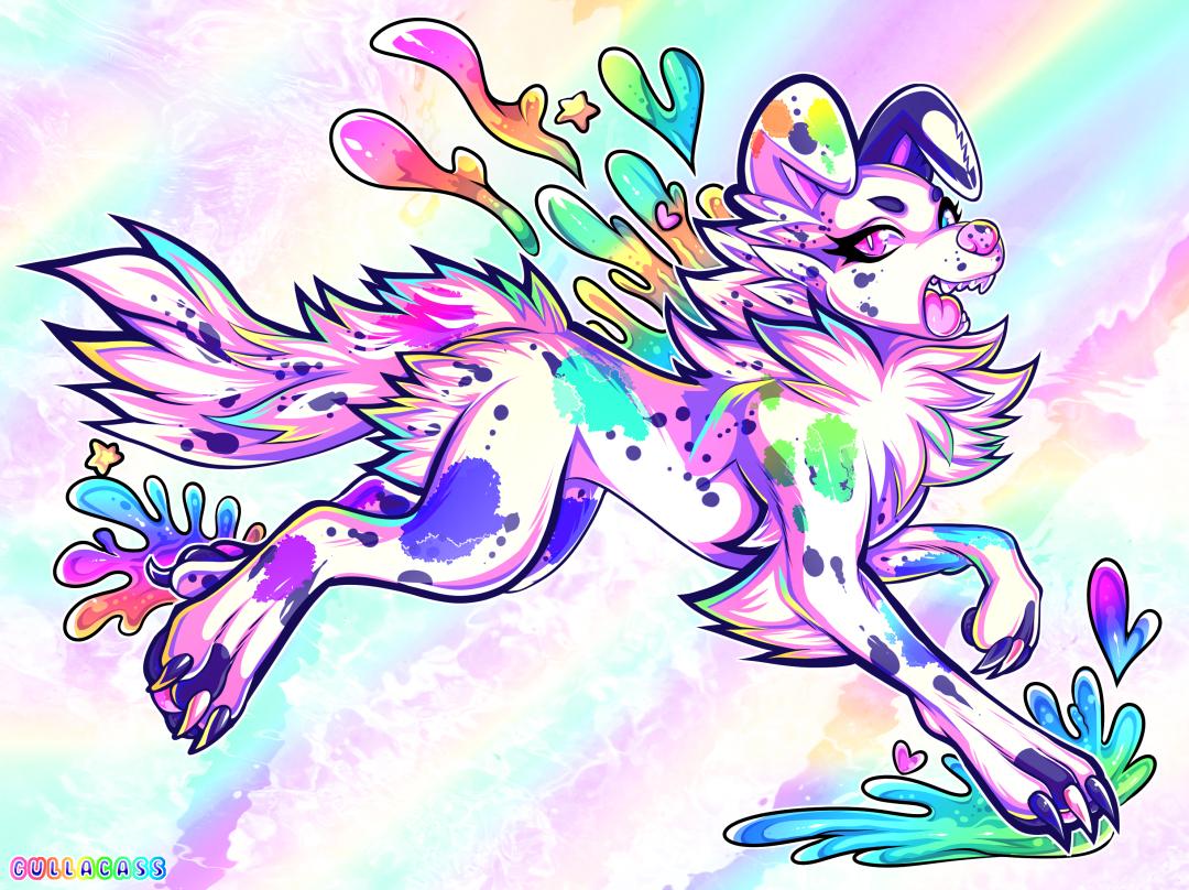 rainbow JUMP by Gullacass
