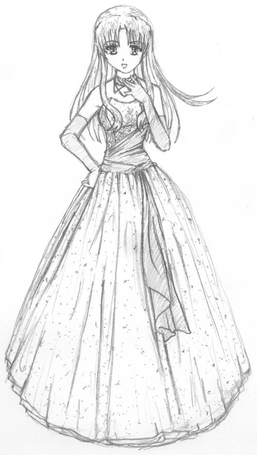 Shana sketch 1 by paper-flowers on DeviantArt