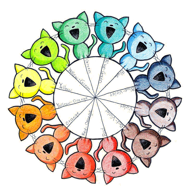 Color wheel kitties by paper flowers on deviantart for Creative color wheel
