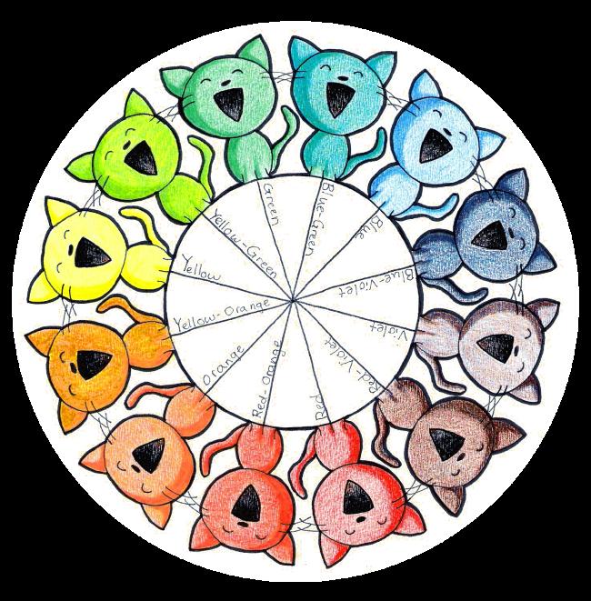 Color Wheel Kitties By Paper Flowers On Deviantart