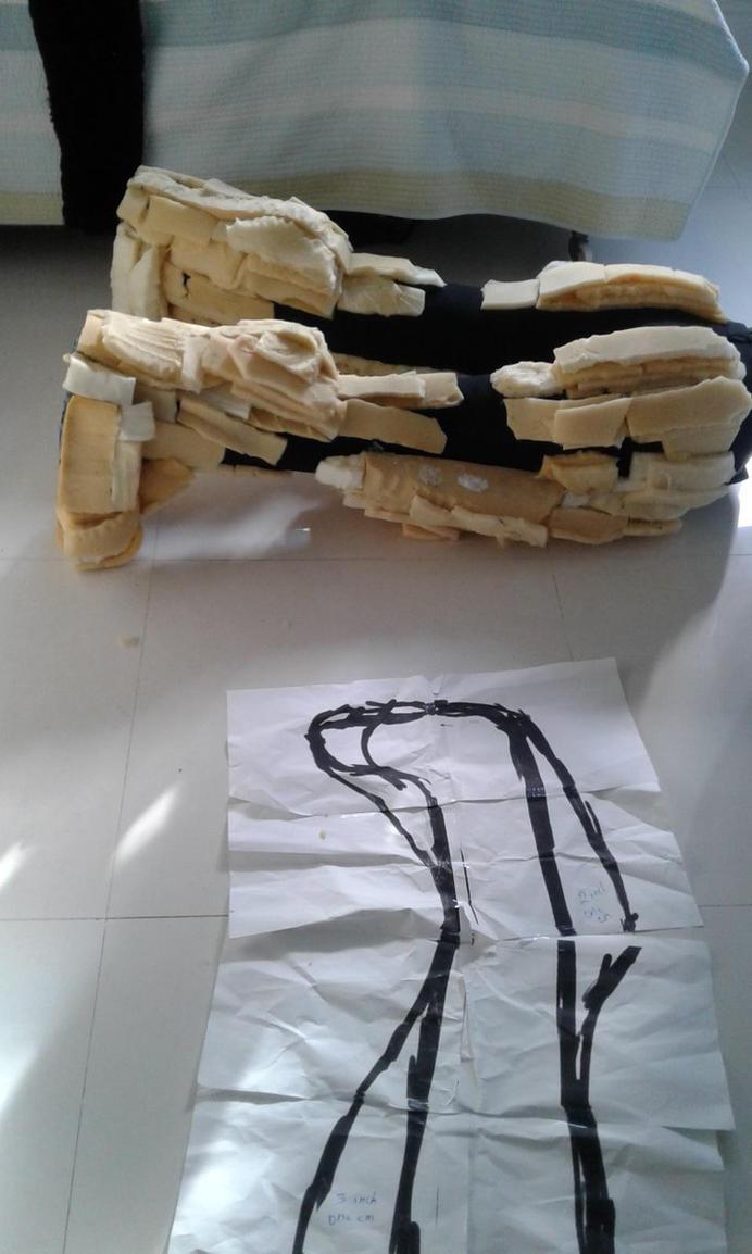 Kiba's new digitigrade legs by m0osegirlhunter