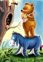 Winnie the Pooh and Eeyore by HoneyBees987